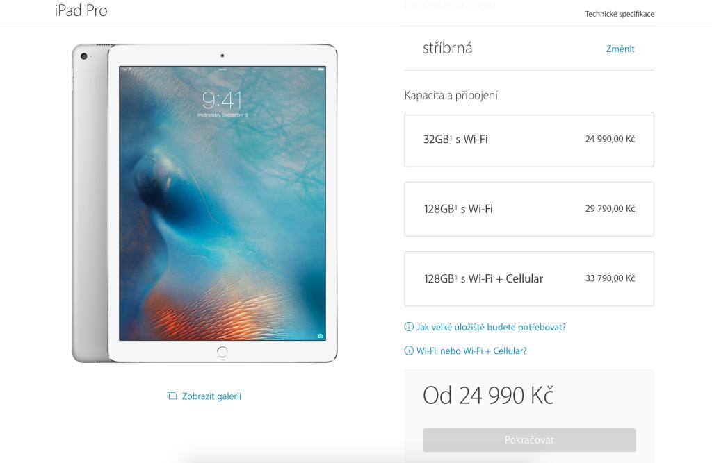 Výběr iPadu Pro