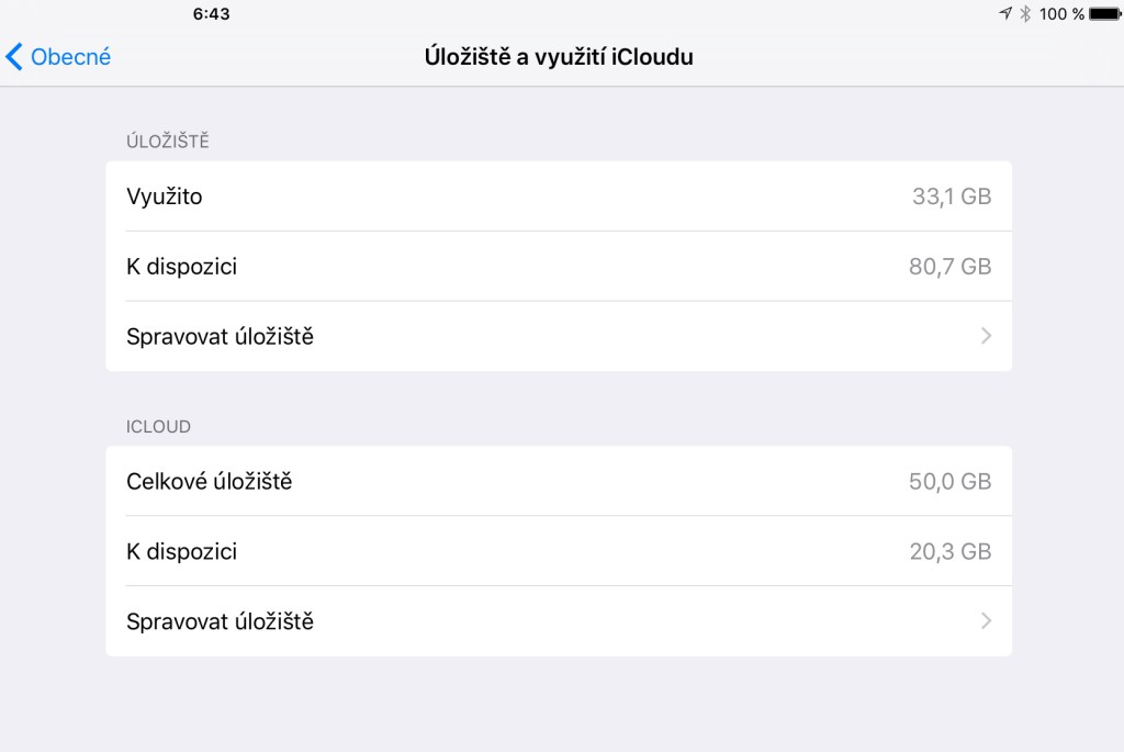 Kapacita iPadu Pro