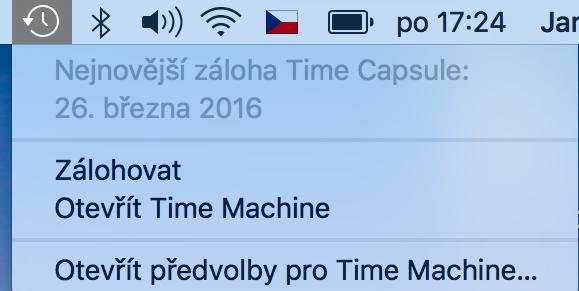 Nastavení Time Machine