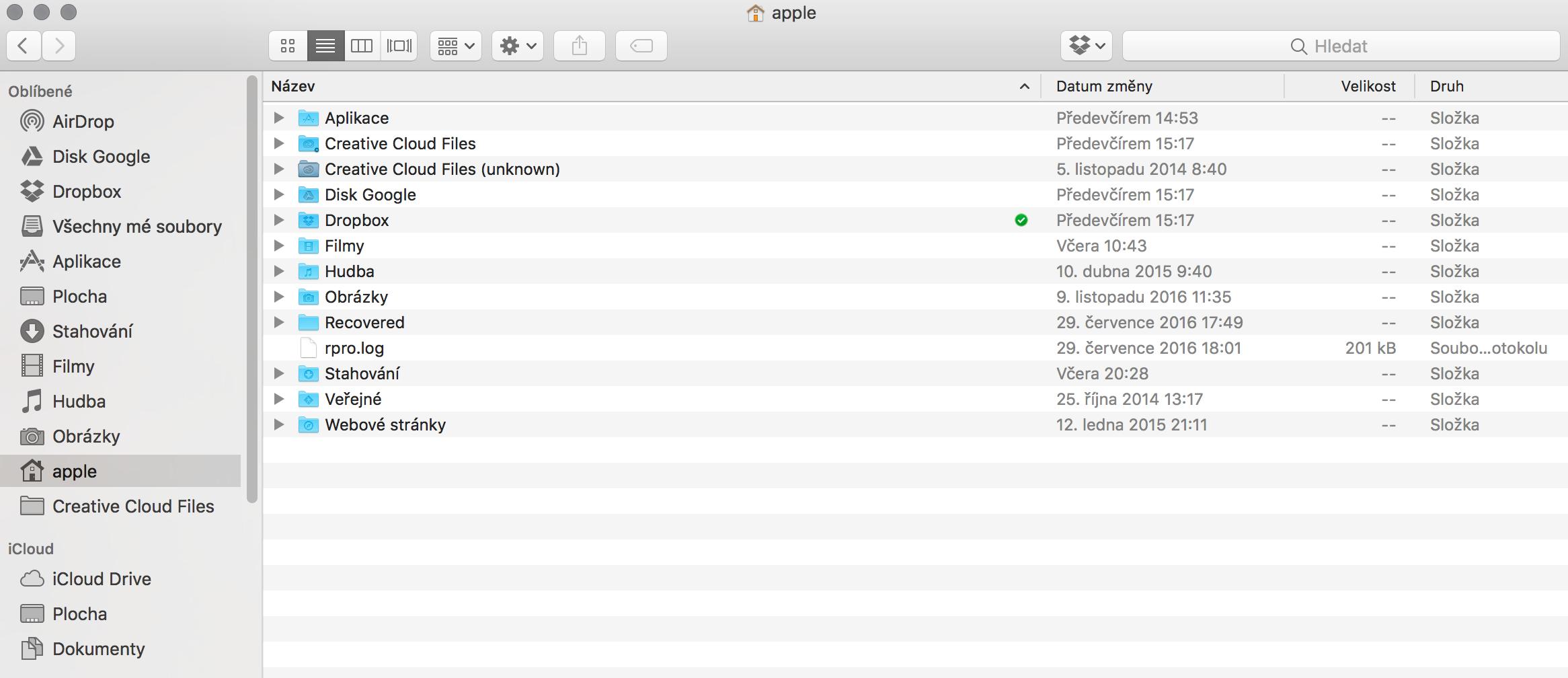 Snychronizace dokumentů s iCloud