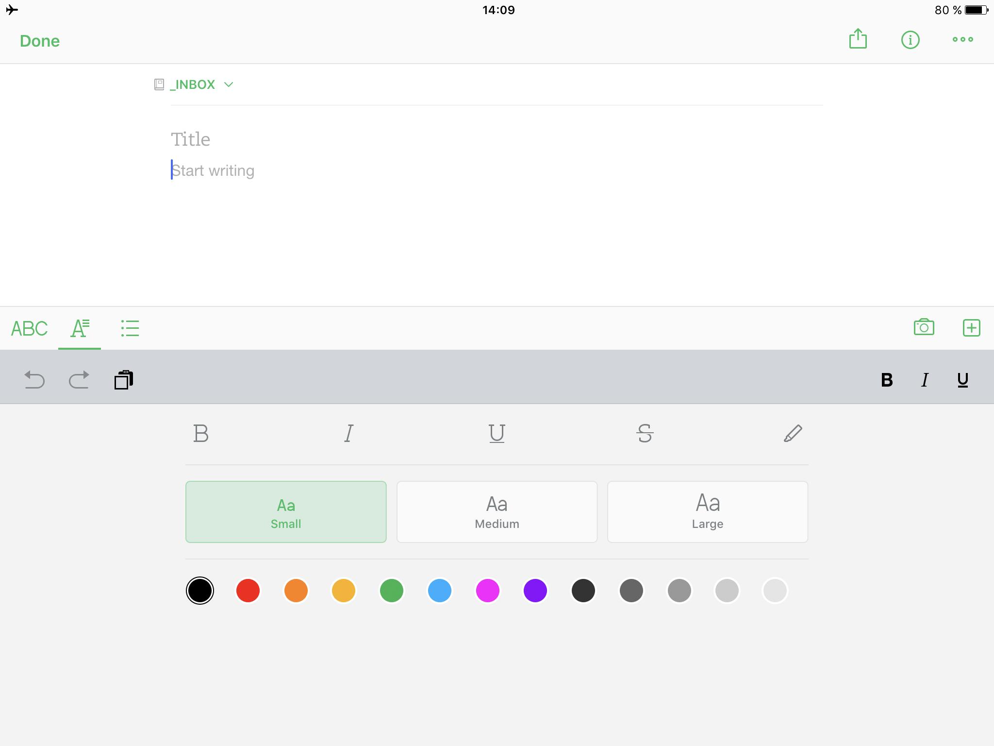 Evernote 8 pro iOS