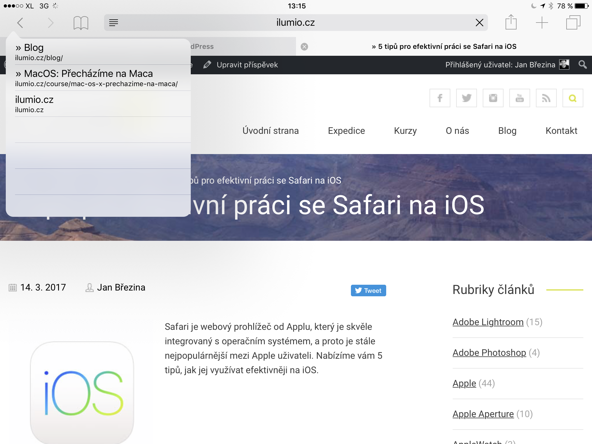Safari na iOS