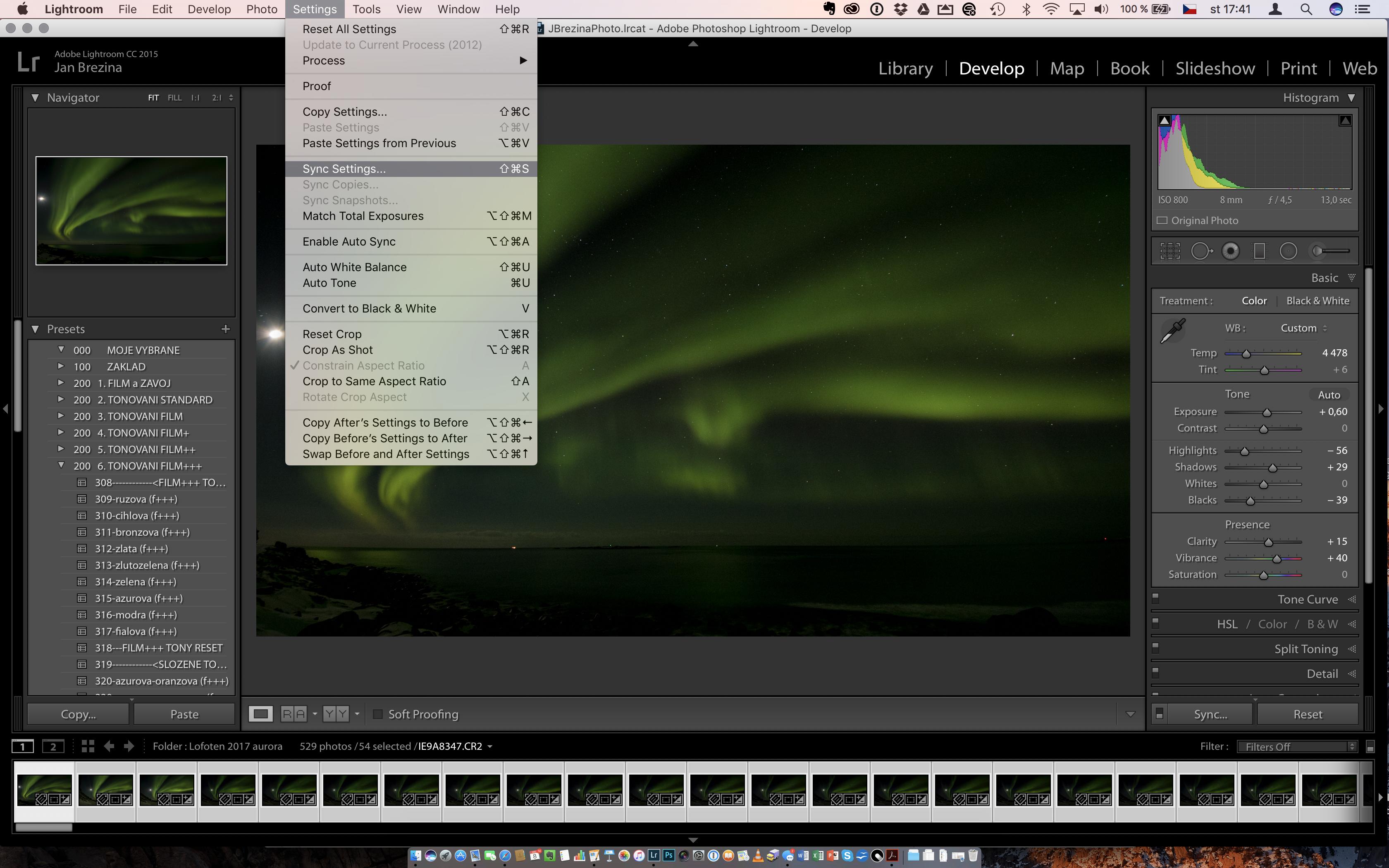 Hromadné úpravy v Adobe Lightroom