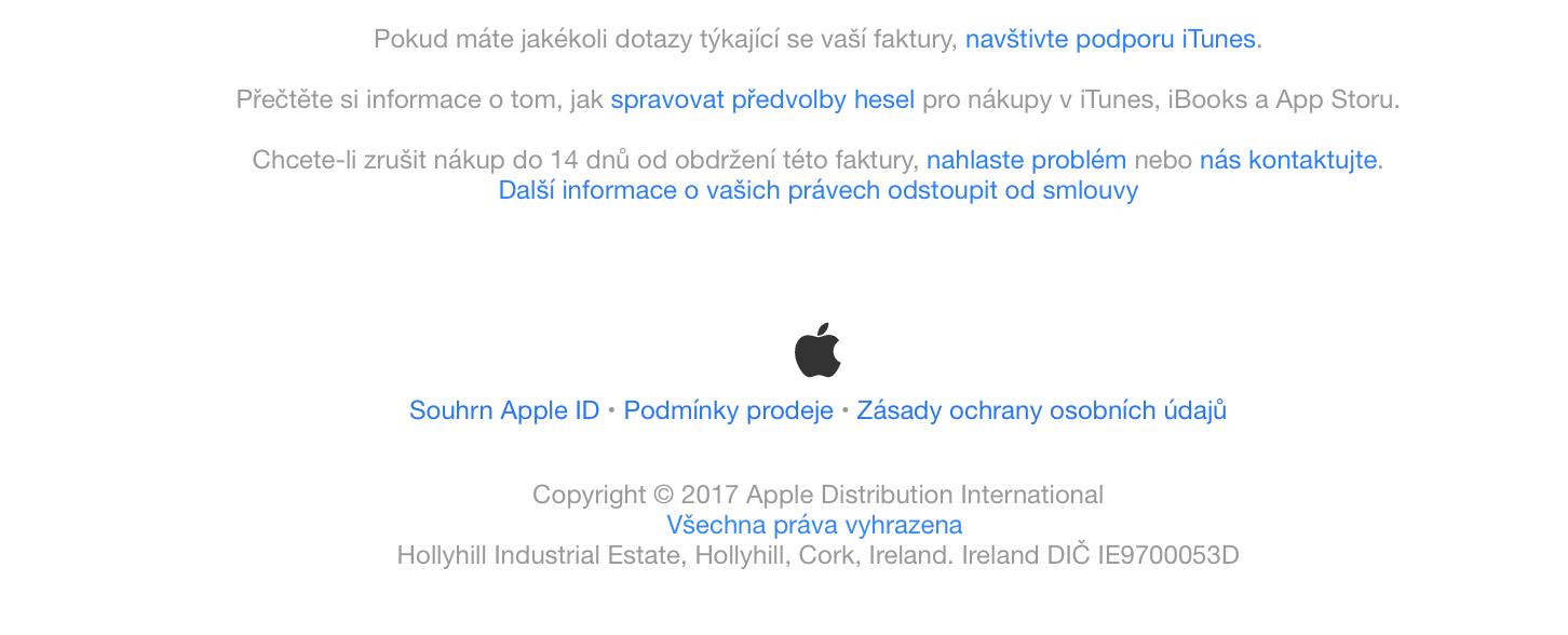 Reklamace v AppStore
