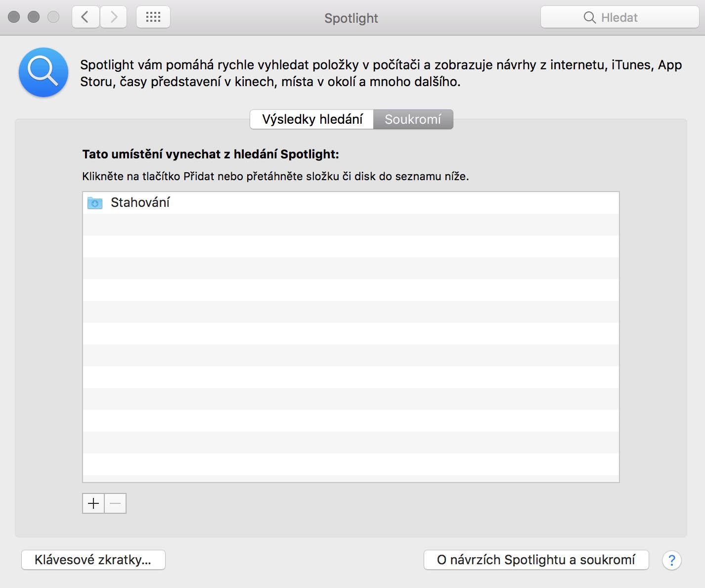 Spotlight - vyhledávání na Macu